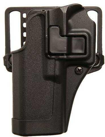 BlackHawk CQC Serpa Belt Holster Left Hand Black Glock 42 Nylon Belt Loop And Paddle 410567Bk-L