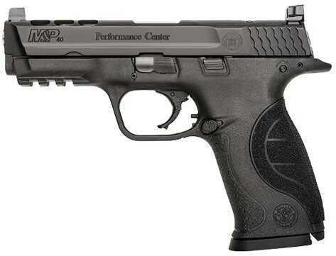 "Pistol Smith & Wesson M&P 40 Performance Center DA 40S&W 4.25"" Ported 15+1 Black Poly Grip Black 10099"