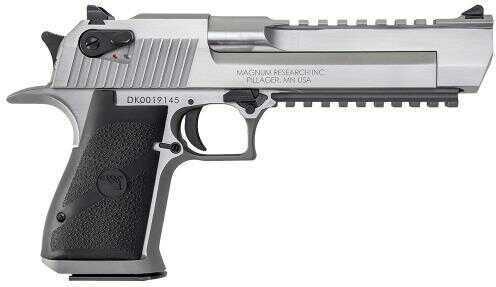 "Pistol Magnum Research Desert Eagle Mark XIX Single 50AE 6"" 7+1 Round Black Synthetic Grip Stainless Steel DE50SR"