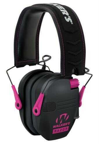 Walker's Game Ear / GSM Outdoors Walkers Game Ear GWPRSEMPNK Razor Slim Shooter Folding Earmuff 23 dB Black/Red