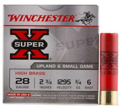 """Winchester X286 Super-X High Brass Game 28 Gauge 2.75"""" 3/4 oz 6 Shot 25 Bx/ 10 Cs"""