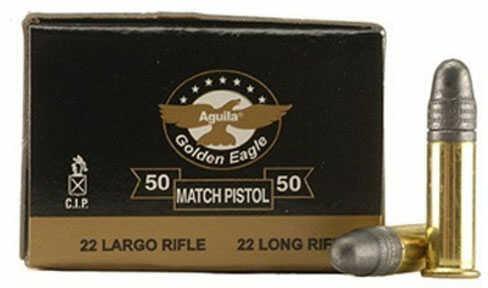 Aguila .22 Match Pistol 40 Gr Lead Bullet 5k Rounds