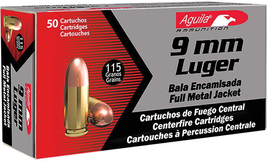 Aguila Ammunition Pistol 9MM 115 Grain Full Metal Jacket 50 Round Box 1E097704