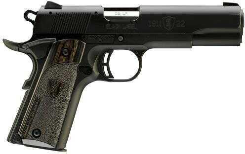 "Browning 1911-22 A1 Black Label 22 Long Rifle Pistol 4.25"" Barrel 10 Round Black Laminate Grip 051814490"