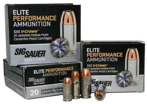 Sig Sauer 45ACP 230 JHP VCrown 20 Rounds E45AP2-20