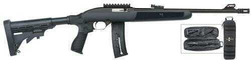 "Mossberg Flex -22 Semi-Auto  22 Long Rifle  16.25"" Barrel  25+1  Rounds  6-Position  Flex Black Stock   Blued Barrel  With Take Down Bag Semi-Auto Rifle   37066"
