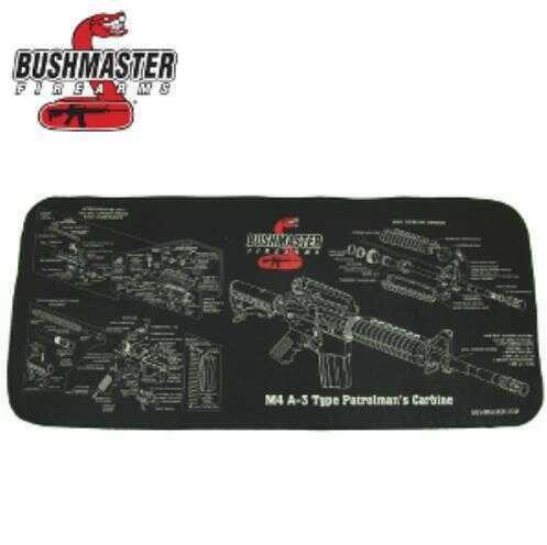 Bushmaster Firearms Bushmaster Neoprene M4 Schematic Gun Cleaning Mat, Matte Black Md: 93686