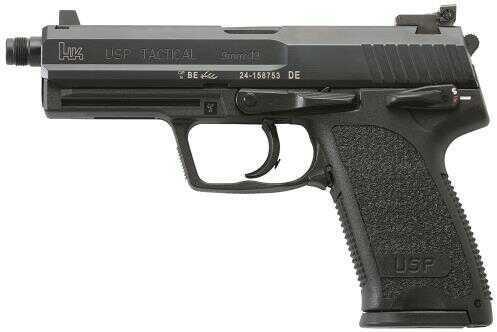 """Pistol Heckler & Koch HK USP TAC Double 9mm Luger 4.9"""" 15+1 Polymer Grip Black M709001TA5"""