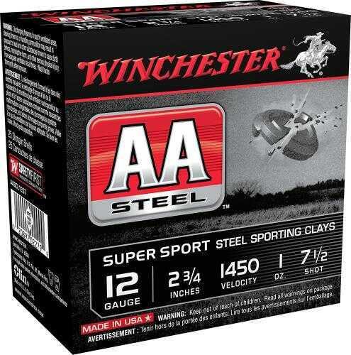"Winchester AA 12 ga 2 3/4"" Steel Shot # 7 1/2 1oz 250 Rounds Ammunition"