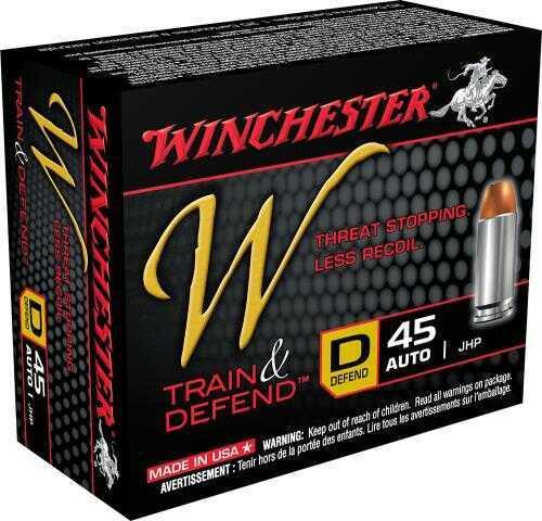 Winchester W45D W Train & Defend 45 ACP Defend 230 Gr JHP 20 Box/10 Case