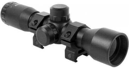 "Aim Sports Inc. Aim Sports Compact 4x 32mm Obj 36.6 ft @ 100 yds FOV 1"" Tube Dia Black JTM432B"