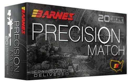 Barnes Bullets Precision Match 300 Win Mag 220 Grain Open Tip Match BT Ammunition, 20 Per Box