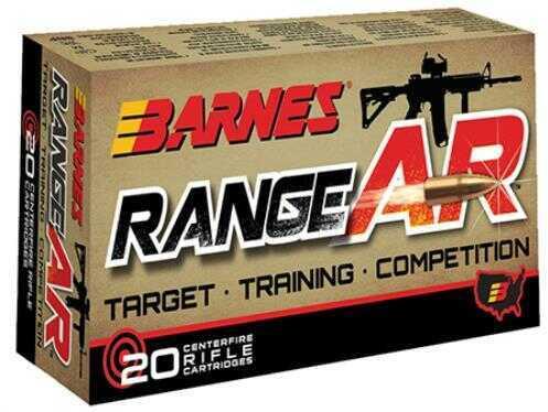 Barnes Bullets Range AR 300 AAC Blackout 90 Grain Open Tip Flat Base Ammunition, 20 Per Box