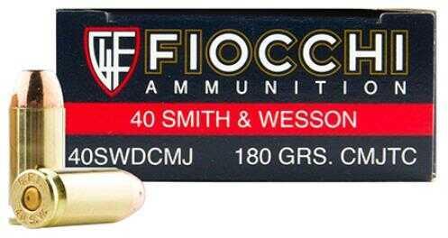 Fiocchi Ammo FIOCCHI 40SWDCMJ 180GRS CMJTC 50ROUNDS
