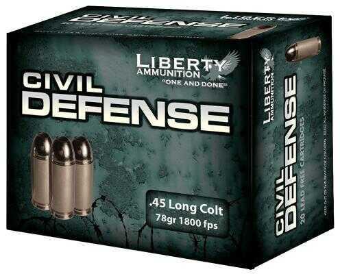 Liberty Ammunition Liberty Civil Defense 45 LC 78 Gr LF Fragmenting HP 20 Round LACD45013