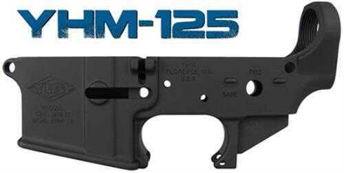 Yankee Hill Machine Lower Reveiver YHMCO Yankee Hill 125-BILLET Billet Lower Receiver AR-15 223 Rem/5.56 NATO Black 125BILLET