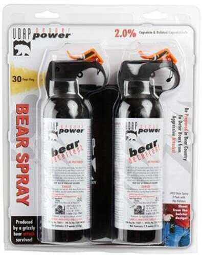 UDAP Bear Spray 7.9oz/225g Up to 30 Feet 2-Pack Black BS2