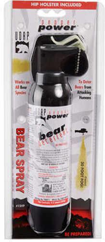 UDAP 15HP SUper Magnum Bear Spray w/Hip Holster 9.2Oz/260g Up To 35 Feet Black