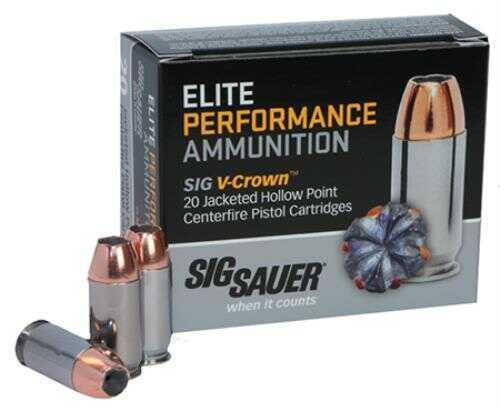 Sig Sauer E38SU1-20 V-Crown JHP 38 Super +P 125Gr JHP 20 Box