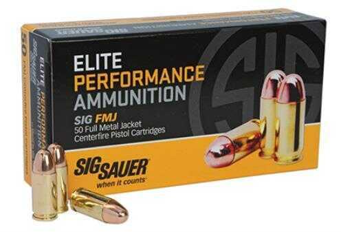 Sig Sauer Full Metal Jacket 38 Super +P 125 Gr FMJ 50 Rounds