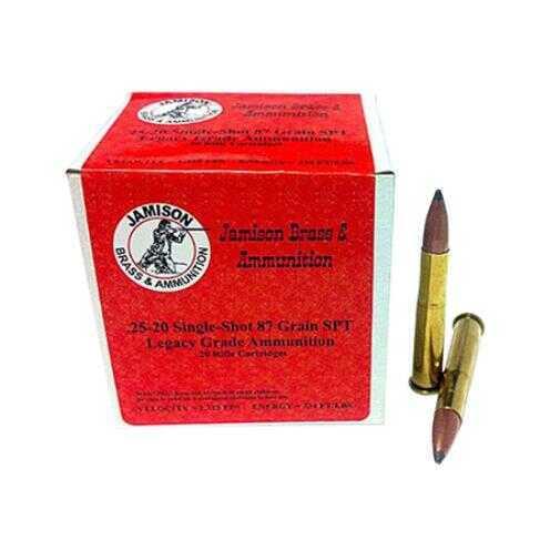 Jamison 25-20 Single Shot 87gr JSP 20 Rounds Ammunition