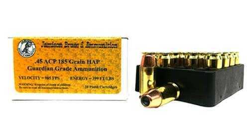 Jamison 45 ACP 185 gr Hap 20 Rounds Ammunition