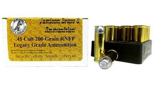 Jamison .45 Colt 200 gr Lead RNFP 20 Rounds Ammunition