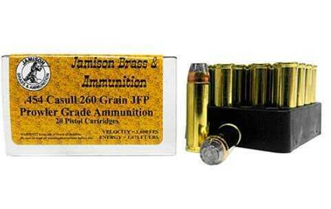 Jamison .454 Casull 260 gr JFP 20 Rounds Ammunition