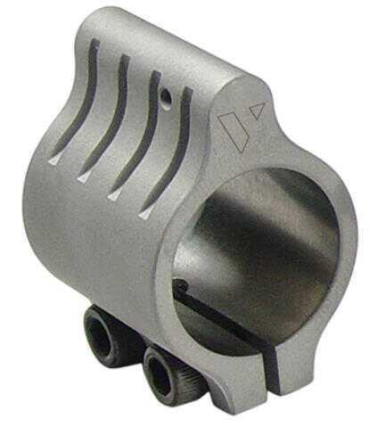 "VLTOR Gas Block Set Screw Mount Low Profile .750"" Stainless Steel, Black Md: GB2S"