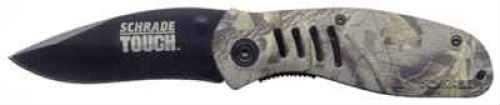 Taylor Brands / BTI Tools SW Knife / Taylor Brands Schrade Knife Old Timer 4in Black Blade Camo Handle T6C