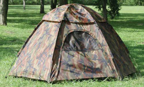 "Tex Sport Camouflage Hexagon Dome Tent 7'8"" x 6'8"" x 48"" h - Sleeps 3 - Polyurethane coated taffeta walls & ra 01113"