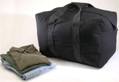 "Tex Sport Canvas Parachute Bag Black - 24"" x 15"" x 13"" - Heavy-duty full length zipper with snap flap closure 11860"
