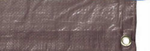 Tex Sport Brown Reinforced Rip-Stop Polyethylene Tarp 8' x 10' - Heavy-gauge polyethylene laminated on both si 17522