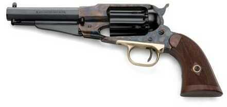 "Taylor/Pietta 1858 Remington Sheriff Case Hardened Frame Checkered Grips .44 Caliber 5.5"" Barrel BP Revolver"