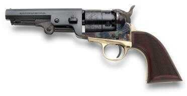 "Taylor/Pietta 1851 Navy Sheriff Checkered Grip Steel .44 Caliber 4-7/8"" Barrel Black Powder Revolver"