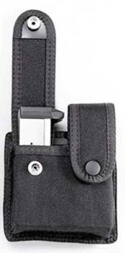Uncle Mikes Cordura Double Pistol Magazine Case - Snap Black Single Row 88371