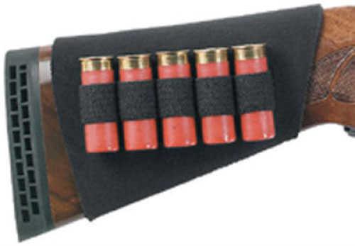 Uncle Mikes Neoprene Buttstock Shell Holder - Shotgun (5 loops) Heavy-duty neoprene sleeve stretches over gun st 88493