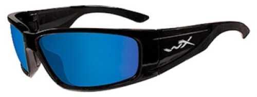 Wiley X Inc. Wiley X Polarized Sunglasses Zak Blue Mirror Green/Gloss Black Md#: ACZAK07