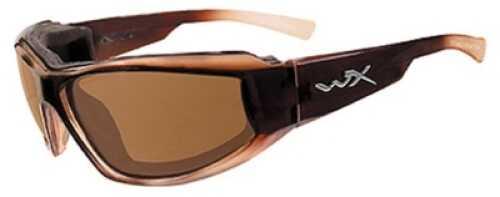 Wiley X Inc. Wiley X Polarized Sunglasses Jake Bronze/Gloss Brown Frame Md#: CCJAK04