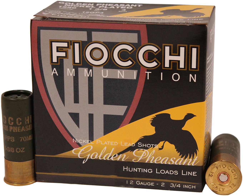 """Fiocchi Ammo Golden Pheasant 12 Gauge 2 3/4"""" 1 3/8Oz #4 25 Rounds Ammunition 12GP4"""
