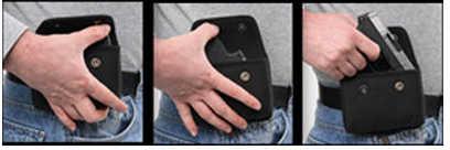 Bulldog Cases Bulldog Holster .380 Auto Pistols Cell Phone Style Concealed Holster Black Vinyl