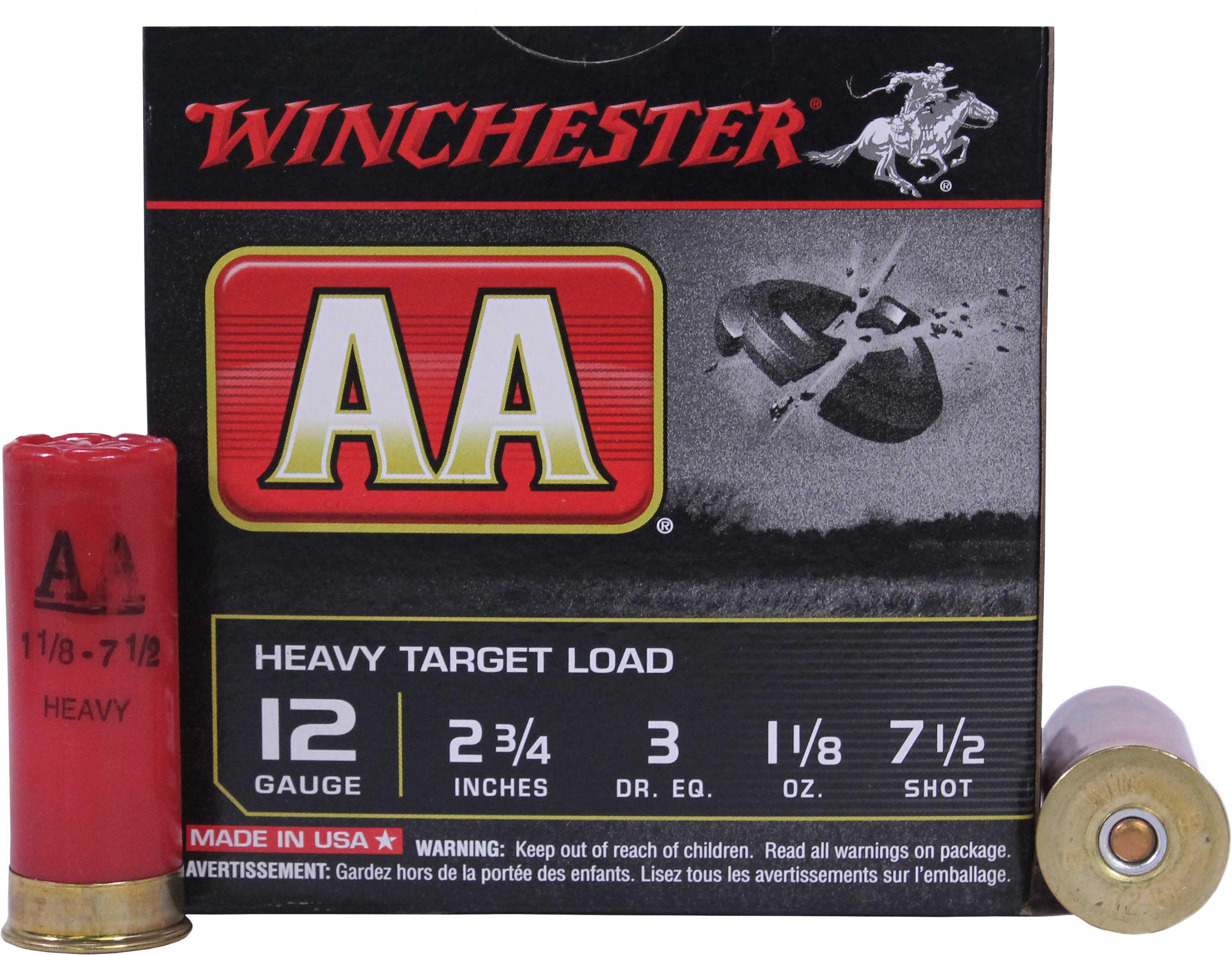 """Winchester AA Target LD 12 Gauge 2 3/4"""" 1 1/8Oz #7.5 25 Rounds Ammunition AAM127"""