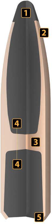 Nosler 375 Caliber 300 Grains SP Partition Bullets 50/Box 44845