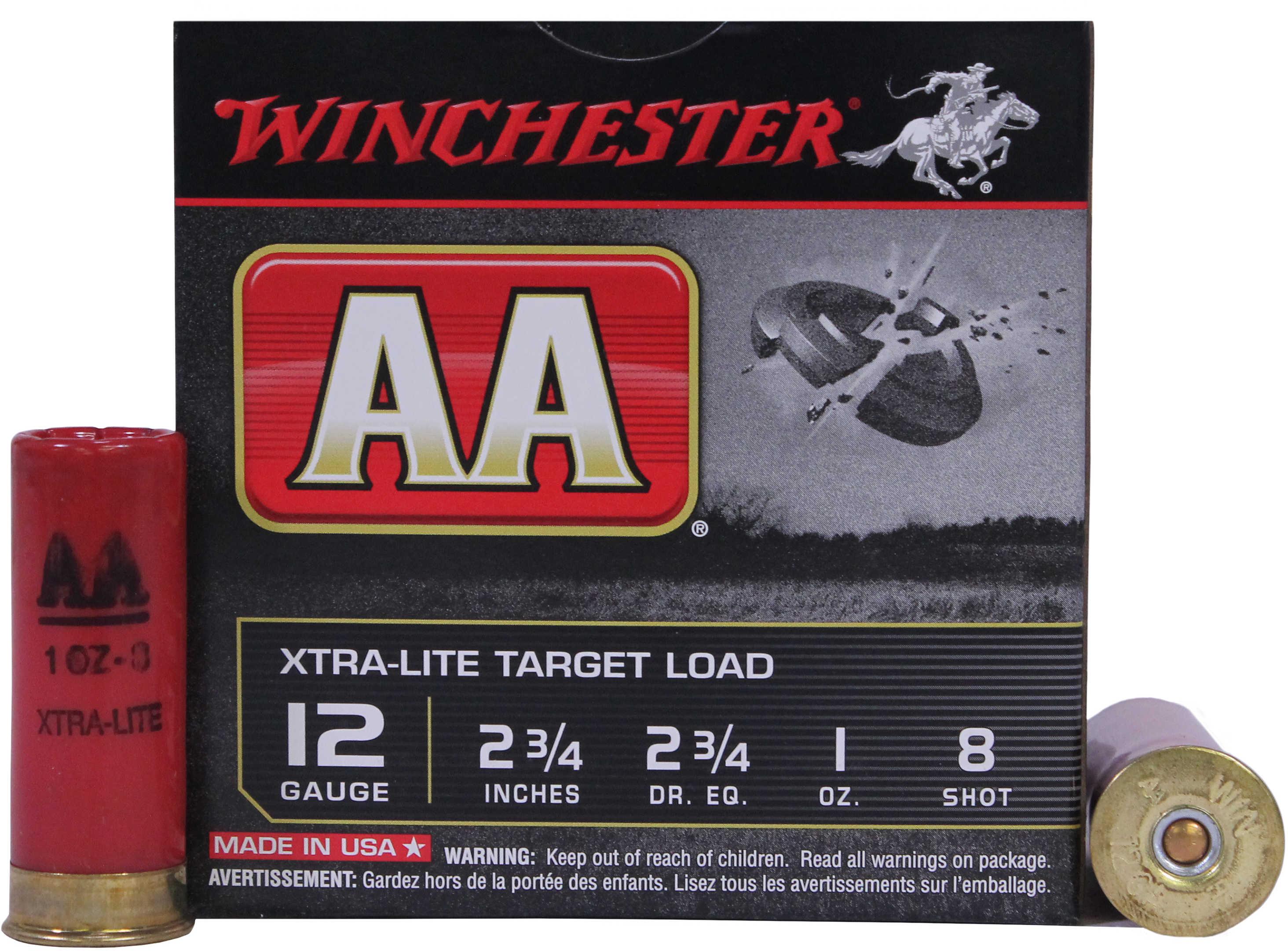 "Winchester AA Target LD 12 Gauge 2 3/4"" 1Oz #8 25 Rounds Ammunition AAL128"
