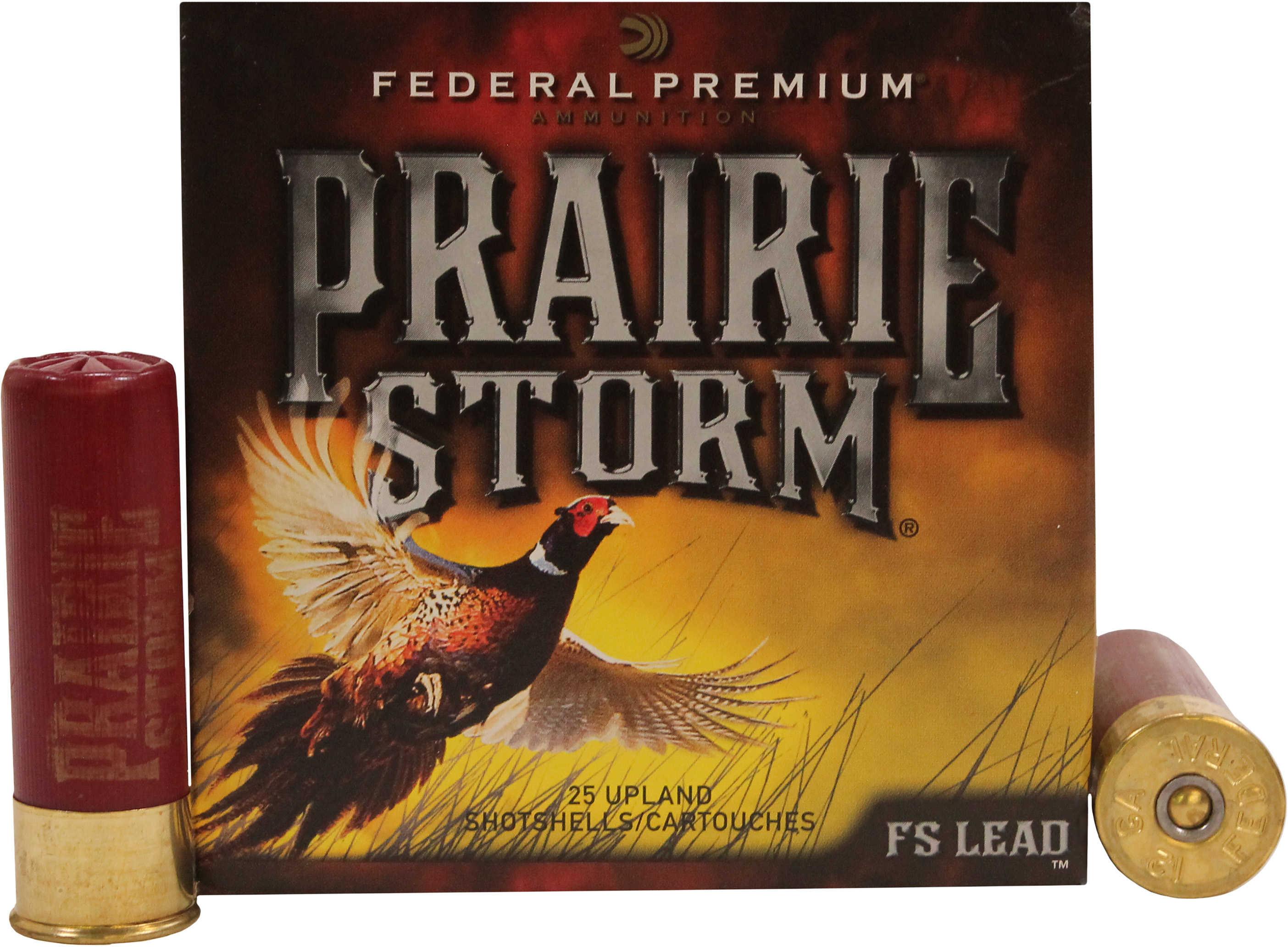 """Federal Cartridge Upland Prairie Storm 12 Gauge 3"""" 1 5/8oz #5 Lead Ammunition PF129FS5"""