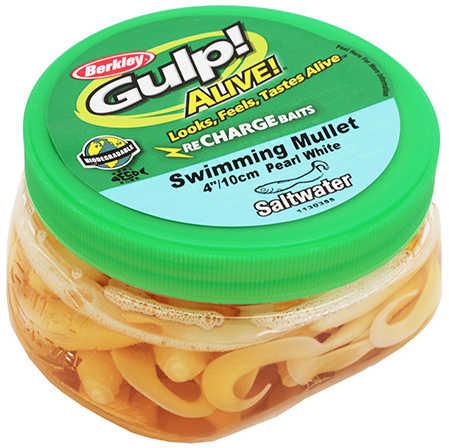 Berkley Gulp Alive Swim Mullet - Pint 4in Pearl White Md#: GAPSM4-PW