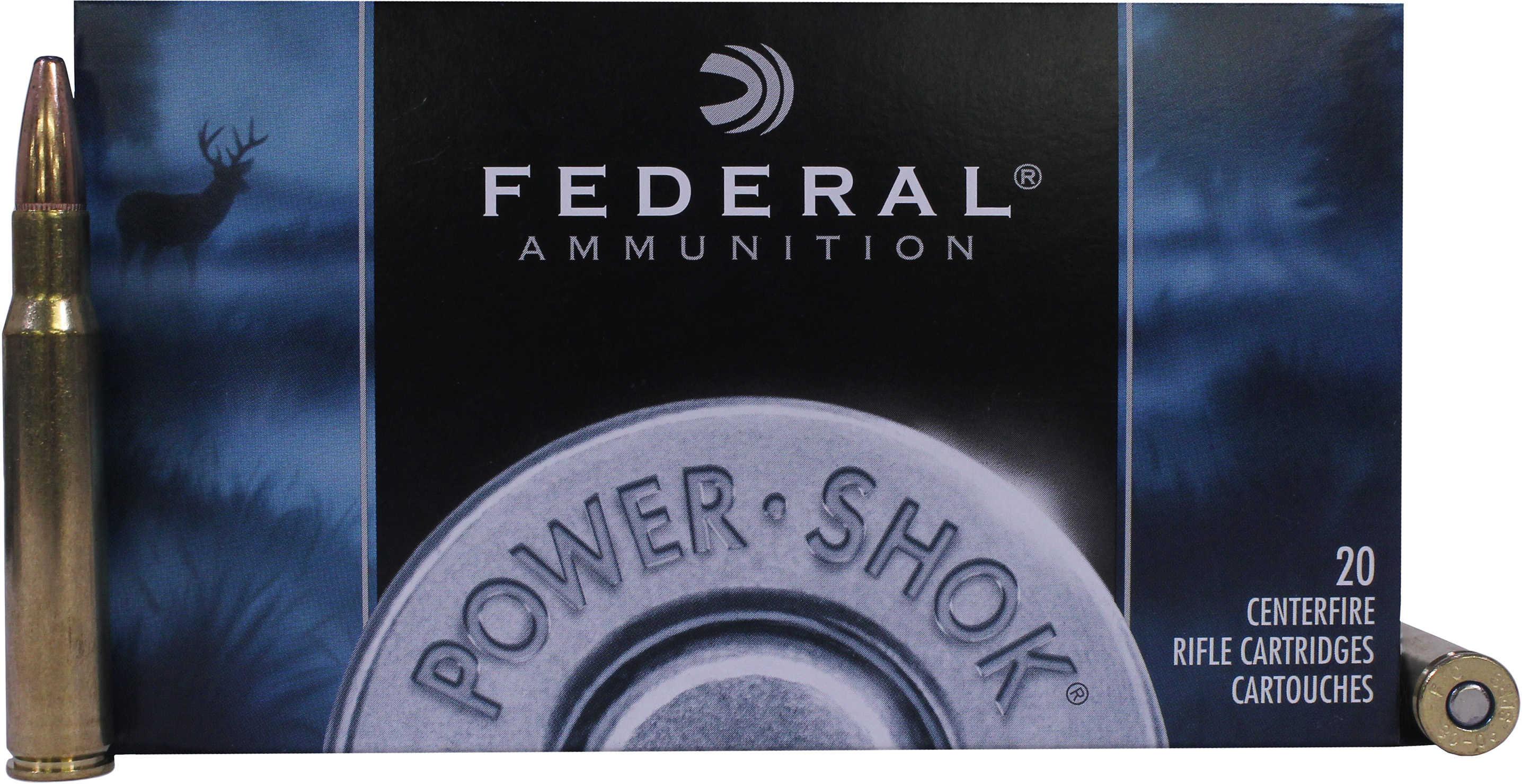 Federal Cartridge 30-06 Springfield 180grain, Power Shok Soft Point, (Per 20) 3006B