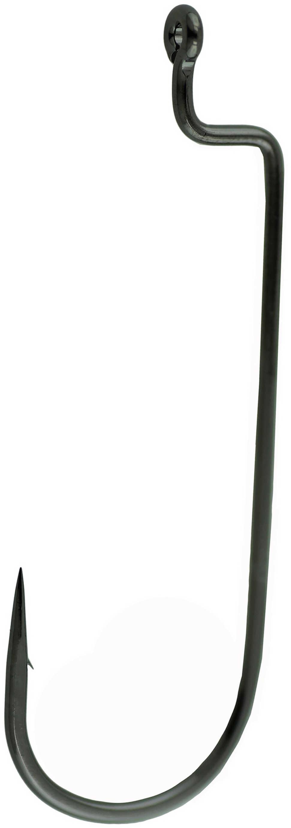 Gamakatsu / Spro Gamakatsu Worm Hook Wide Black Offset 25Pk 1/0 Md#: 54411-25