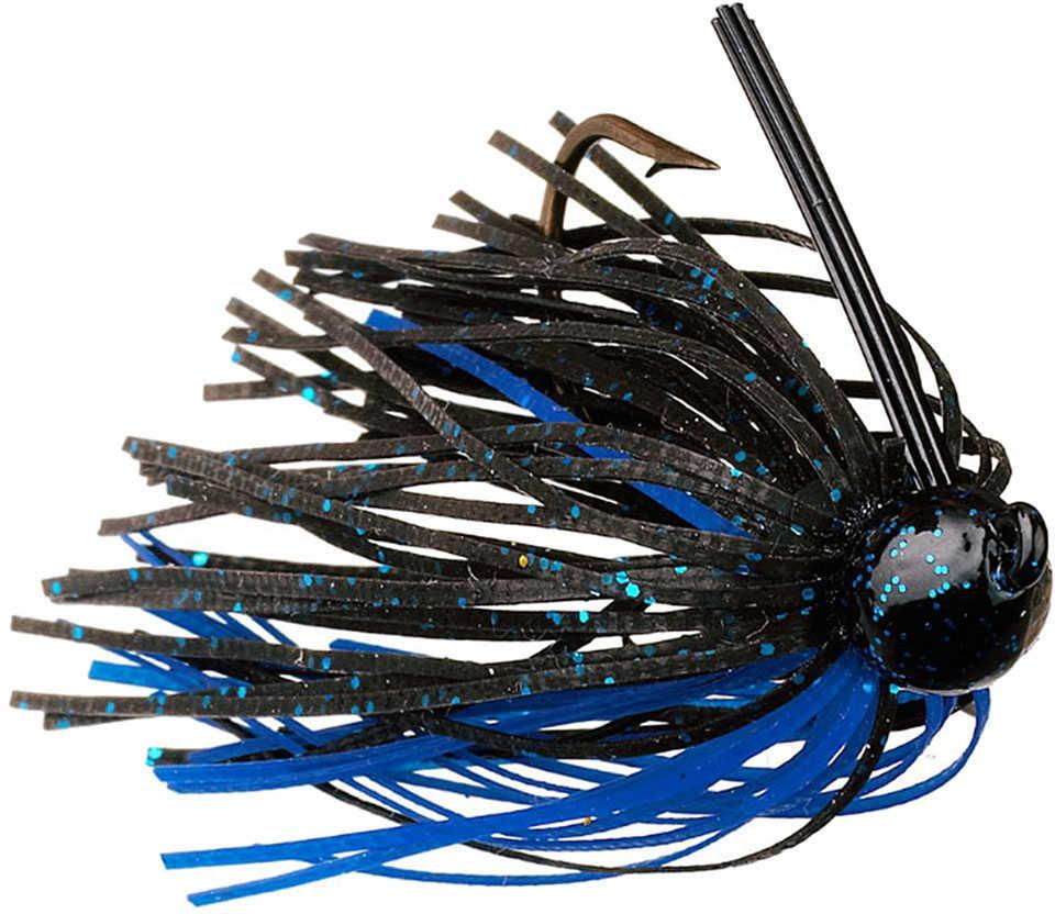 Strike King Lures Strike King Bitsy Bug Mini Jig 1/8oz Black/Blue Md#: BBJ18-2