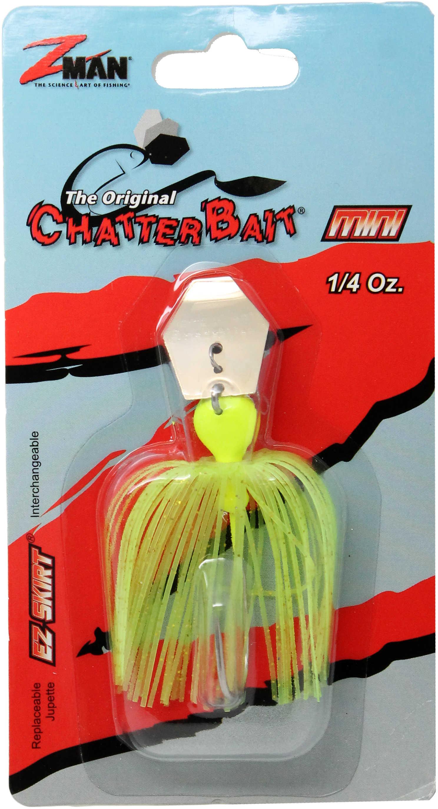Z-Man / Chatterbait / Z-Man Chatterbait Mini 1/4oz Chartreuse Md#: CBMINI14-03